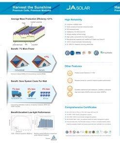 JA Solar 300w Percium data sheet